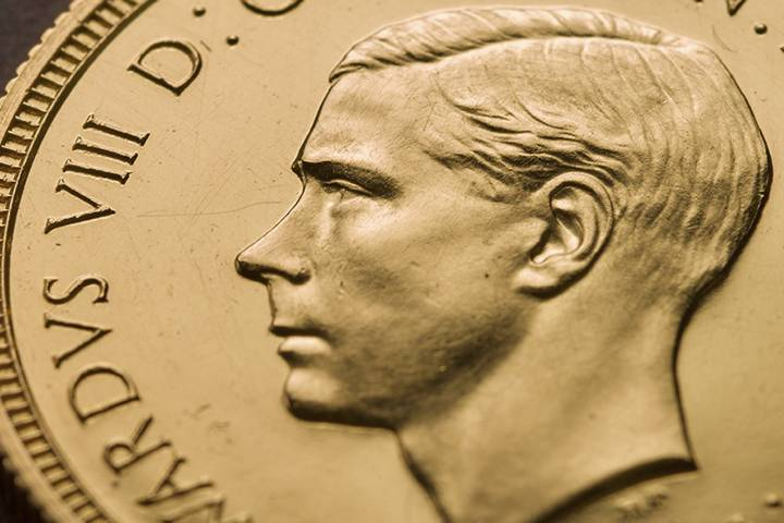 Photo of Rare British coin showing King Edward VIII before abdication sells for record US$1.3M