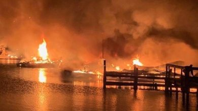 Photo of 8 dead after fire ravages house boats, marina in Alabama