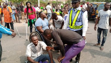 Photo of Disabled persons invade court, block road over  N9m P-Square judgment debt