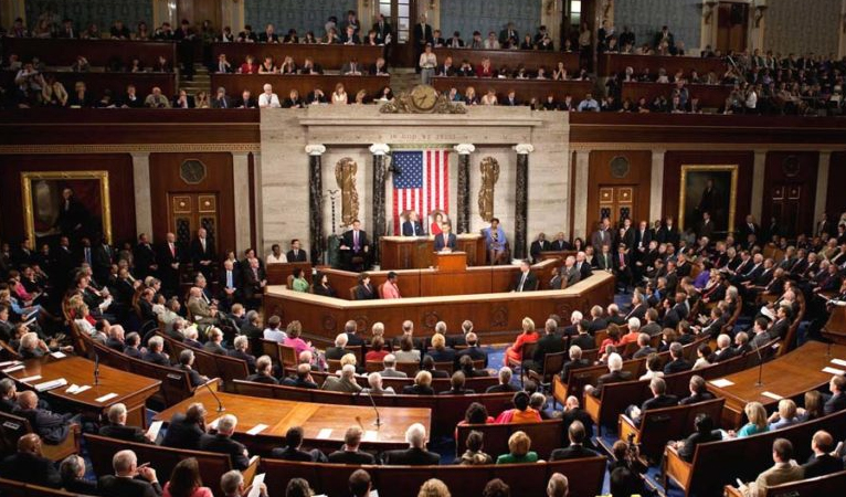 Photo of Republicans vote in favour of impeachment trial rules, ending day one