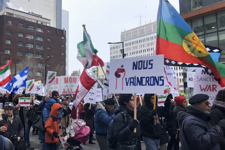 Photo of 'We are against war': Montrealers rally against military intervention in Iran