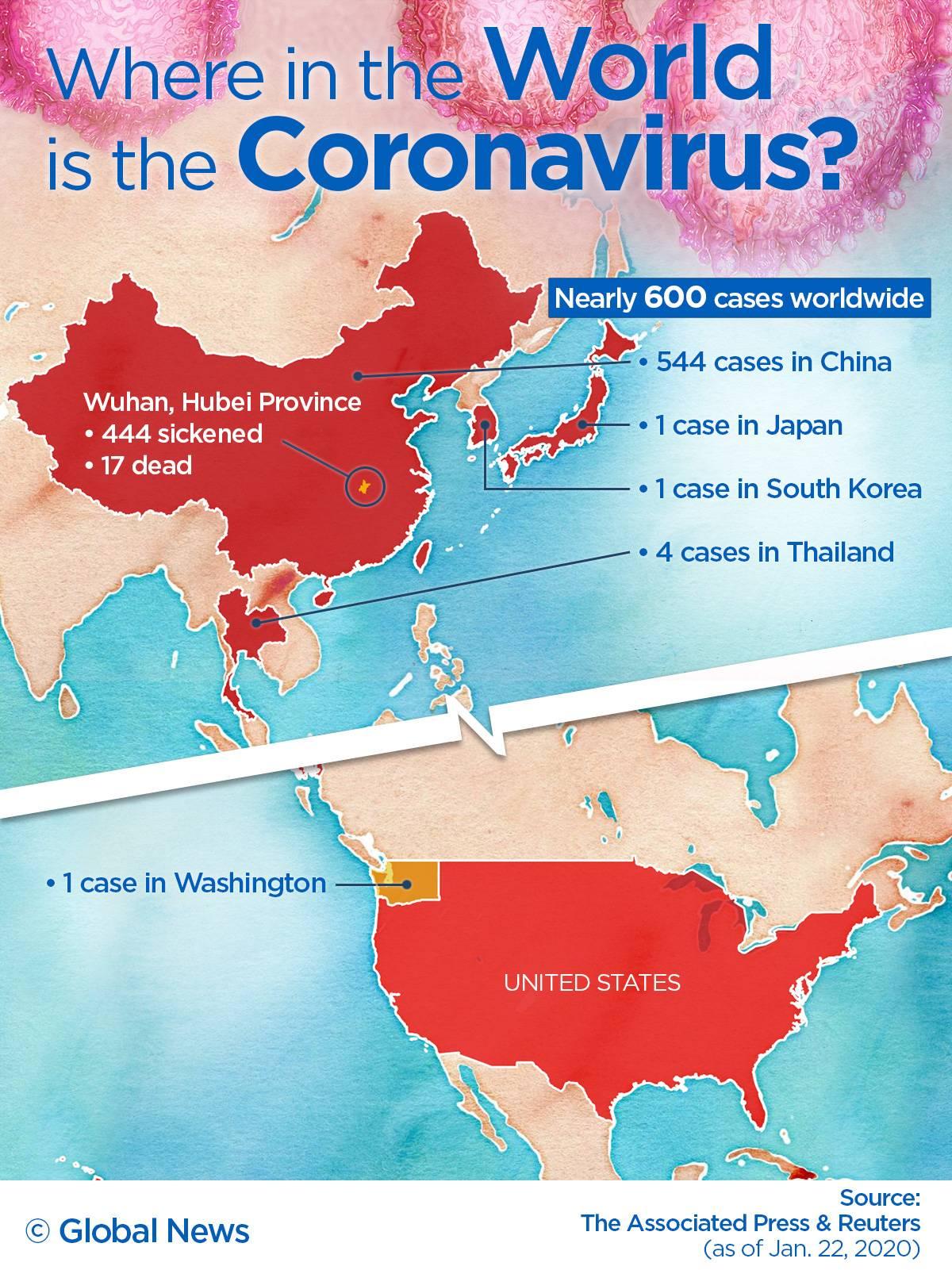 Photo of MAP: Where China's coronavirus has spread to so far
