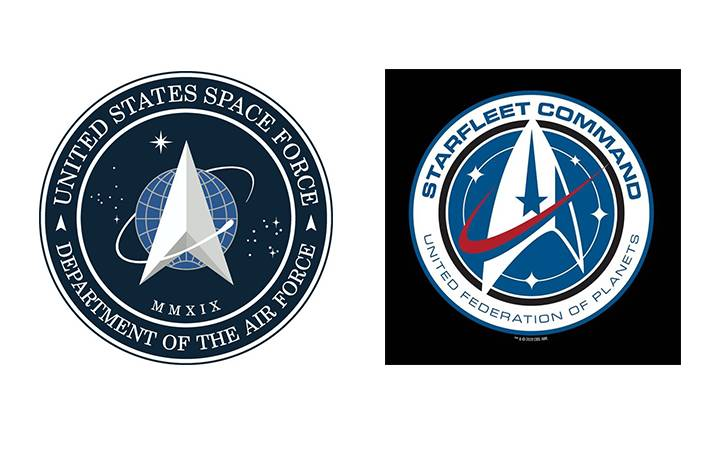 Photo of U.S. Space Force logo prompts comparisons to 'Star Trek' — but there's more to the story