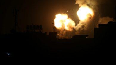 Photo of Palestinian rockets fired at Israel following clash at Gaza border