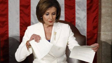 Photo of Nancy Pelosi rips Trump's 2020 State of the Union speech while on the podium