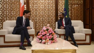 Photo of Justin Trudeau in Ethiopia for African Union meeting