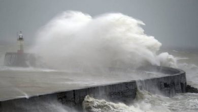 Photo of U.K. cancels flights, trains and ferries as high winds batter northern Europe