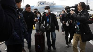 Photo of COVID-19: Passengers begin leaving Japanese cruise ship after quarantine ends