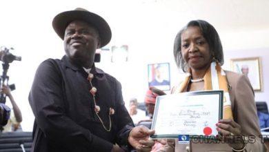 Photo of Bayelsa: INEC presents certificate of return to Sen. Douye Diri