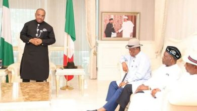 Photo of Eminent Nigerians visit, condole Gov. Udom on father's death
