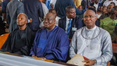 Photo of Osinbajo, Lawan, Okowa applaud Omo-Agege at thanksgiving