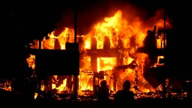 Photo of Midnight fire razes four shops, property worth N2m in Osun