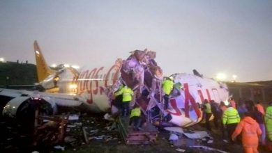 Photo of Plane appears broken after skidding off runway at Istanbul airport