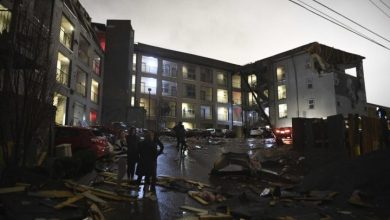 Photo of At least 40 buildings destroyed after tornado rips through downtown Nashville