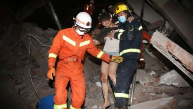 Photo of 70 trapped after Chinese hotel used to observe suspected coronavirus cases collapses