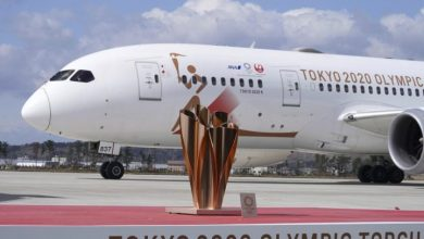 Photo of Olympic torch arrives in Japan with little fanfare as coronavirus threatens Games