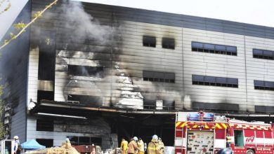 Photo of At least 36 dead after fire rips through South Korea construction site