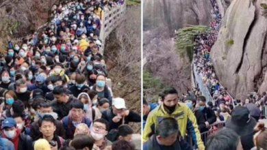 Photo of Chinese tourist sites packed as coronavirus lockdown lifts