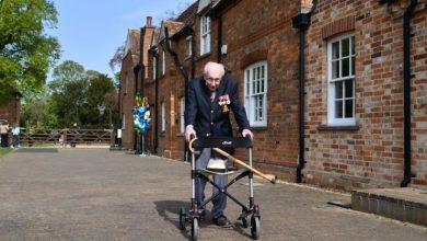 Photo of 99-year-old British WWII vet walks laps to raise astounding $33M for coronavirus relief