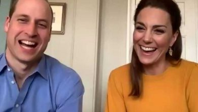 Photo of Prince William, Kate Middleton pay virtual visit to excited classroom of kids