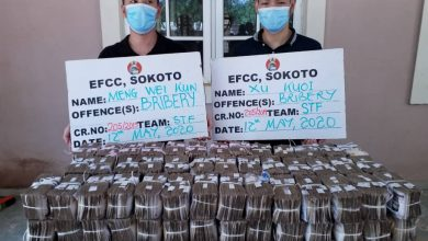 Photo of Two Chinese contractors to appear in court for offering N100m bribe to EFCC official