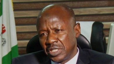 "Photo of DSS arrests EFCC Chair, Magu, ""he was only invited""- aide"