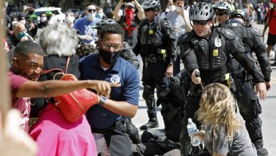Photo of Congresswoman pepper sprayed during George Floyd protest in Ohio
