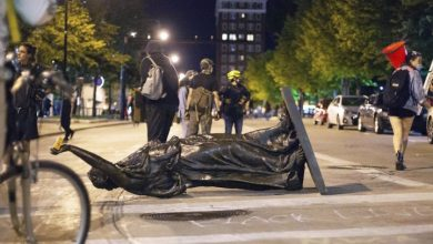 Photo of Wisconsin calls in National Guard after protesters topple statues, incite violence