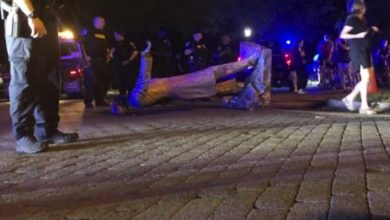 Photo of Statues of Confederate leaders torn down, beheaded in 2 Virginia cities