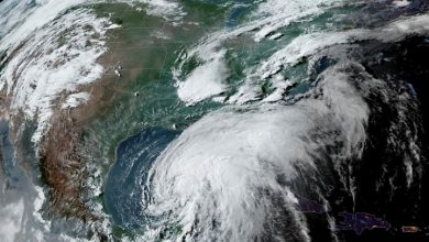 Photo of Tropical Storm Cristobal moving towards U.S. Gulf Coast after causing floods in Mexico