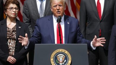 Photo of Trump says it is 'a great day' for George Floyd in speech on equality, jobs report