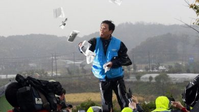 Photo of South Korea police raid office of activist whose anti-North campaign raised tensions