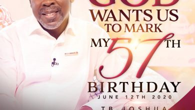 Photo of T.B Joshua celebrates 57th birthday, asks followers to reach out to the poor