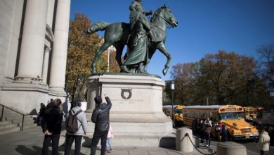 Photo of Roosevelt statue to be removed from New York's Museum of Natural History