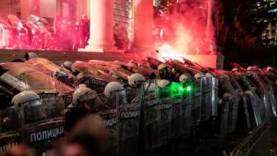 Photo of Demonstrators attempt to storm Serbian parliament on 4th night of protests